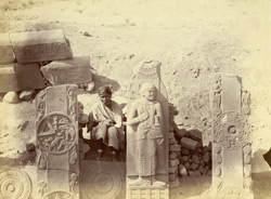 Sculpture pieces excavated from the Stupa at Bharhut: pillars from south-west quadrant